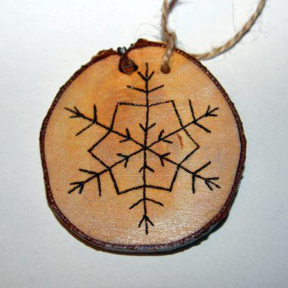 Деревянная игрушка Снежинка