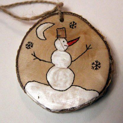 Деревянная игрушка Снеговик